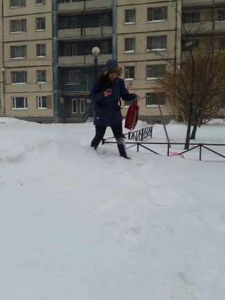 The pavement was missing outside of the well-loved student dormitory in St Petersburg.