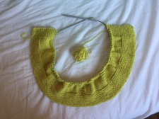 Casting on and knitting on circular needles for the very first time!